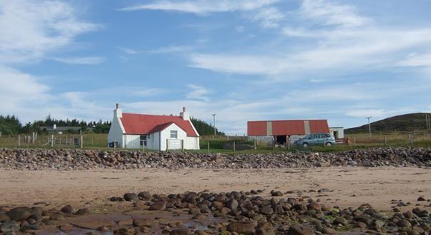 Vakantiehuisje Schotland vanaf het strand