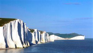 Zicht op Seven Sisters krijtrotsen Engeland